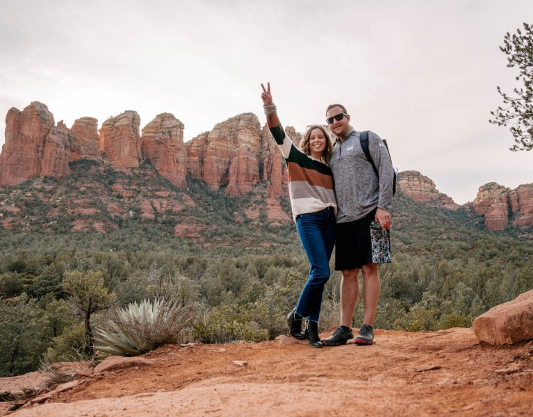 Hiking Soldier's Pass Trail on our honey in Arizona