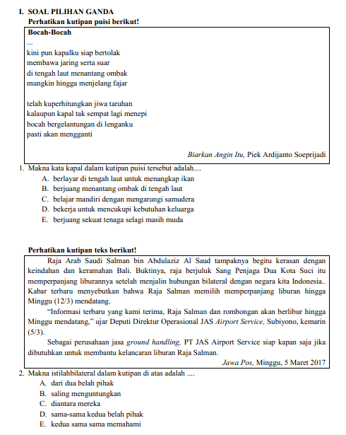 Soal Unbk Bahasa Indonesia Sma 2018 : bahasa, indonesia, Download, Togetherunicfirst