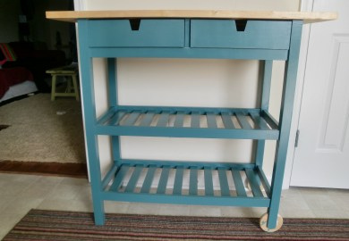Ikea Kitchen Cart Painted