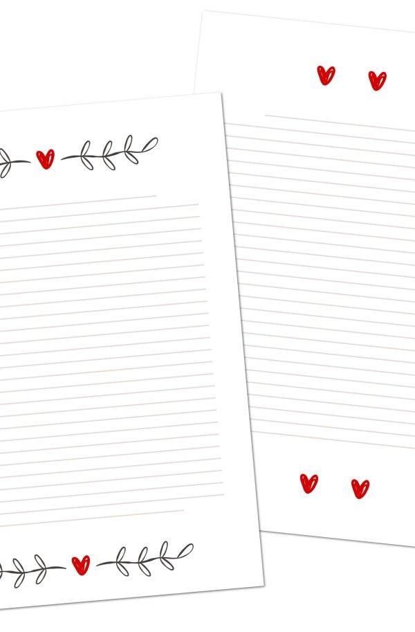 Carta da lettere cuore da scaricare gratis