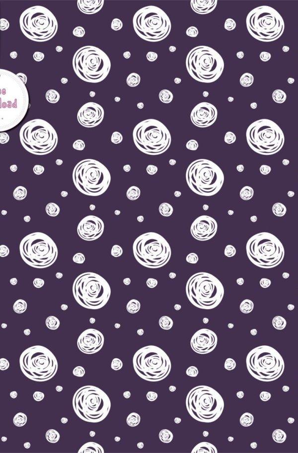 Sfondo pois scarabocchio – purple dots