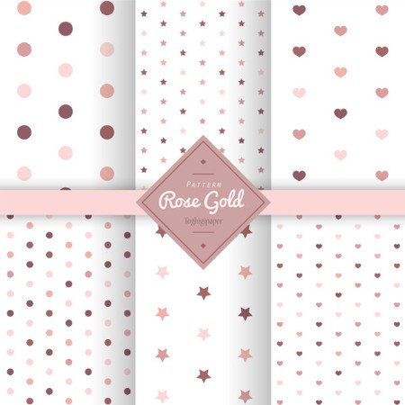 Pattern rose gold