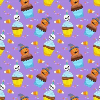 Sfondo Halloween cupcake