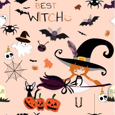 Sfondo Halloween strega