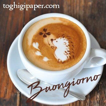 Buongiorno autunno caffè cappuccino belle e nuove immagini gratis WhatsApp