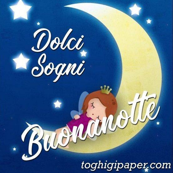Luna buonanotte dolci sogni immagini gratis WhatsApp nuove bacionotte dolci sogni per WhatsApp, Facebook, Pinterest, Instagram, Twitter