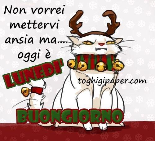 Lunedì natalizio buongiorno nuove e belle immagini gratis per WhatsApp, Facebook, Pinterest, Instagram, Twitter