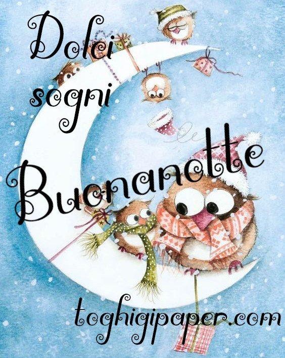 Dolci sogni Natale buonanotte nuove immagini gratis per Facebook e WhatsApp