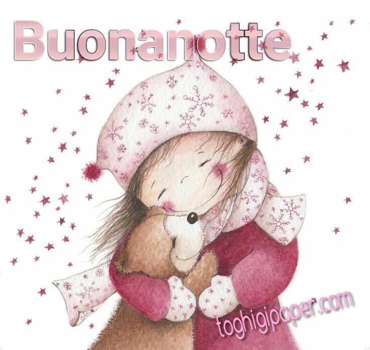 Inverno buonanotte immagini gratis WhatsApp nuove bacionotte dolci sogni per WhatsApp, Facebook, Pinterest, Instagram, Twitter