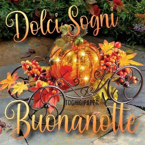 Dolci sogni buonanotte autunno nuove immagini gratis per Facebook e WhatsApp