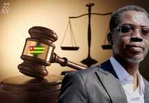 Le ministre de la « Justice » sans réel pouvoir, le sieur Pius Agbétomey | Infog : 27avril.com