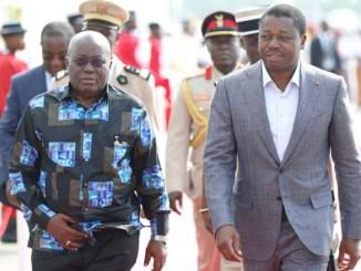 Addo et faure [Confidentiel]: la médiation de Akufo-Addoh a coûté plus de 327 millions à Faure Gnassingbé