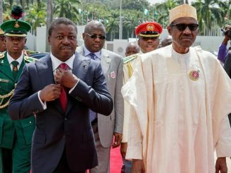 Buhari Hosts Togo President3 600x516 e1596100066372 Ramadan : le vœu de Faure Gnassingbé à Muhammadu Buhari