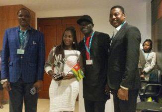 IMG 20180417 WA0033 e1523992251163 Concours The Voice: Victoire Biaku accueillie comme une reine à Lomé[Vidéo]