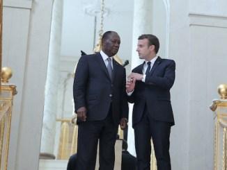 Alassane ouattara et Macron