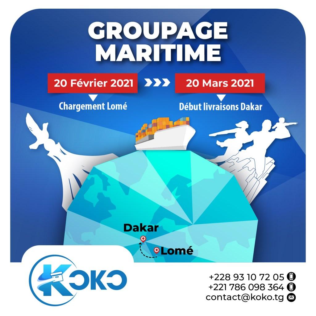 GROUPAGE BATEAU Groupage maritime : désormais la facilitation des échanges entre Lomé et Dakar a un nom !