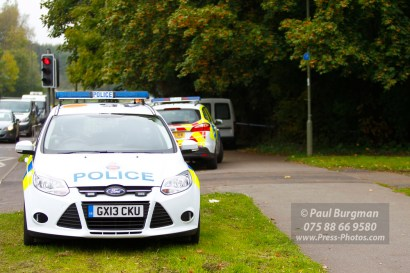 22/10/2016. Scene of a serious sex attack, Parkway, Guildford. Surrey Police Forensics in attendance