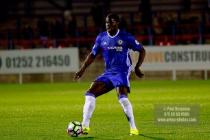 24/10/2016 Chelsea U23 v Derby County U23. Kurt Zouma set to return to Chelsea in the FA Cup, featured for 45 minutes in the U23 game