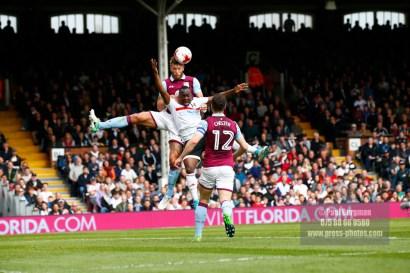 17/04/2017. Fulham FC v Aston Villa. Match Action. FulhamÕs Floyd AYITE
