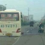 中国のバスがブレーキをかけ過ぎた結果?