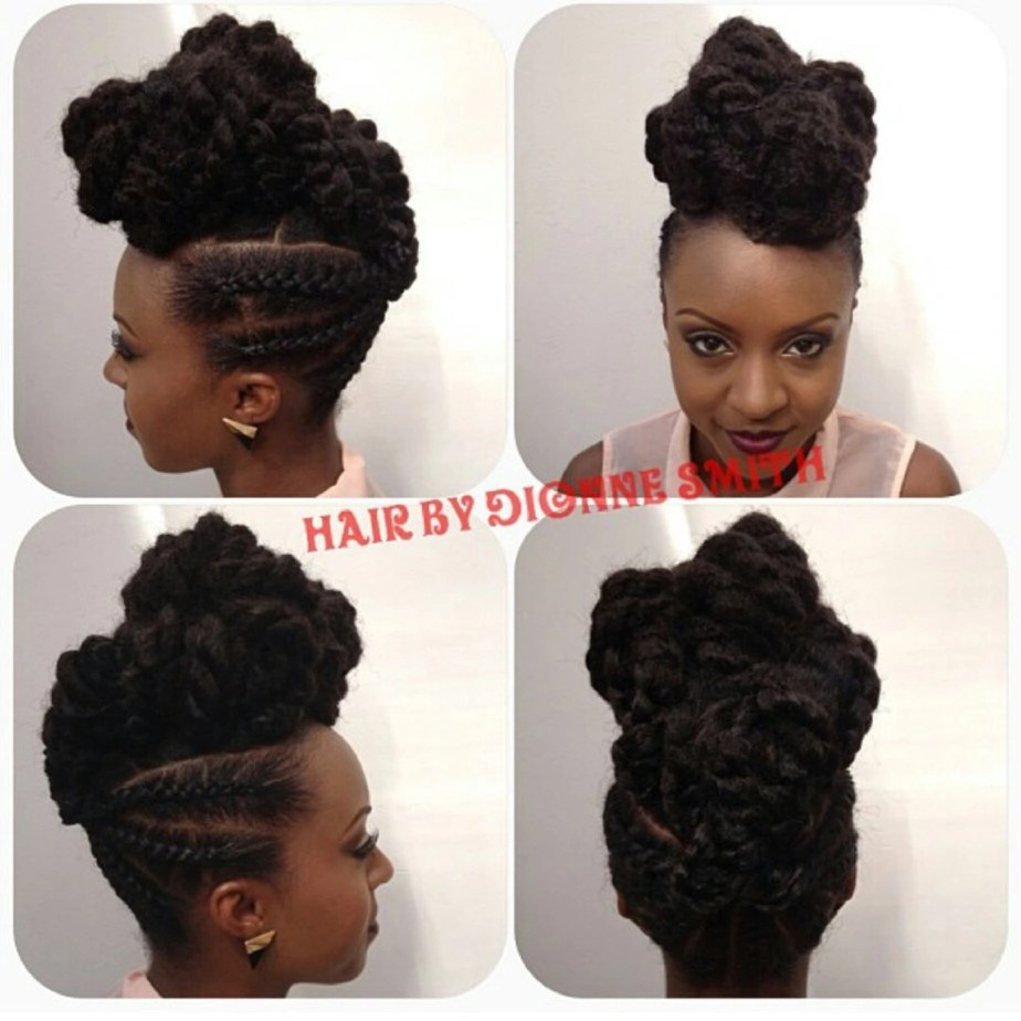 Cornrows And Chunky Twists Natural Hair Tutorial Toia Barry