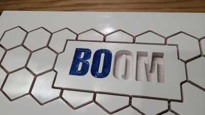 MK Boom boombox top epoxy pour