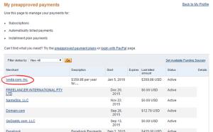 hủy tự động thanh toán Paypal.com