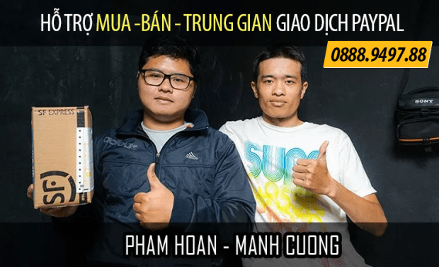 mua bán trung gian giao dịch Paypal