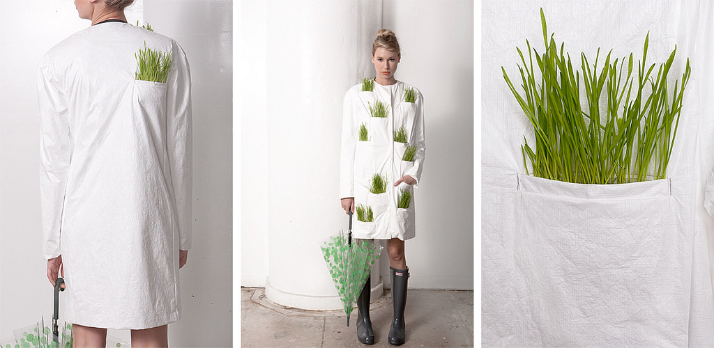 tyvek & wheat grass fashion/ wrk-shop