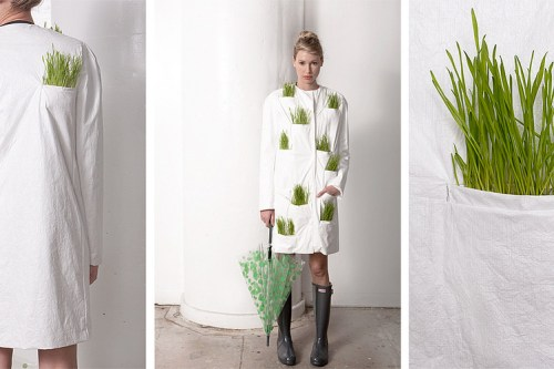 tyvek & wheat grass fashion/ wrk-shop
