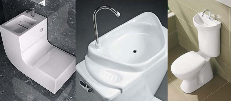 save water and money with a toilet sink