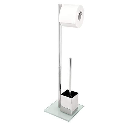 Gut gemocht Toilettenpapierhalter Freistehend Mit Bürste | Silber | Klobürsten KS11
