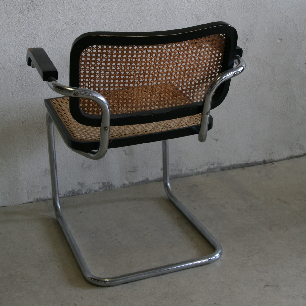 marcel breuer cesca chair with armrests double moon by tasteful objects toinc