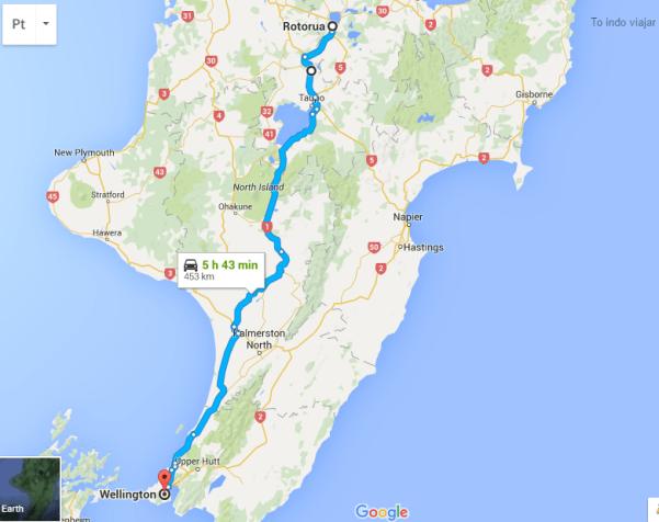 mapa ilha norte viajar de carro pela nova zelandia to indo viajar
