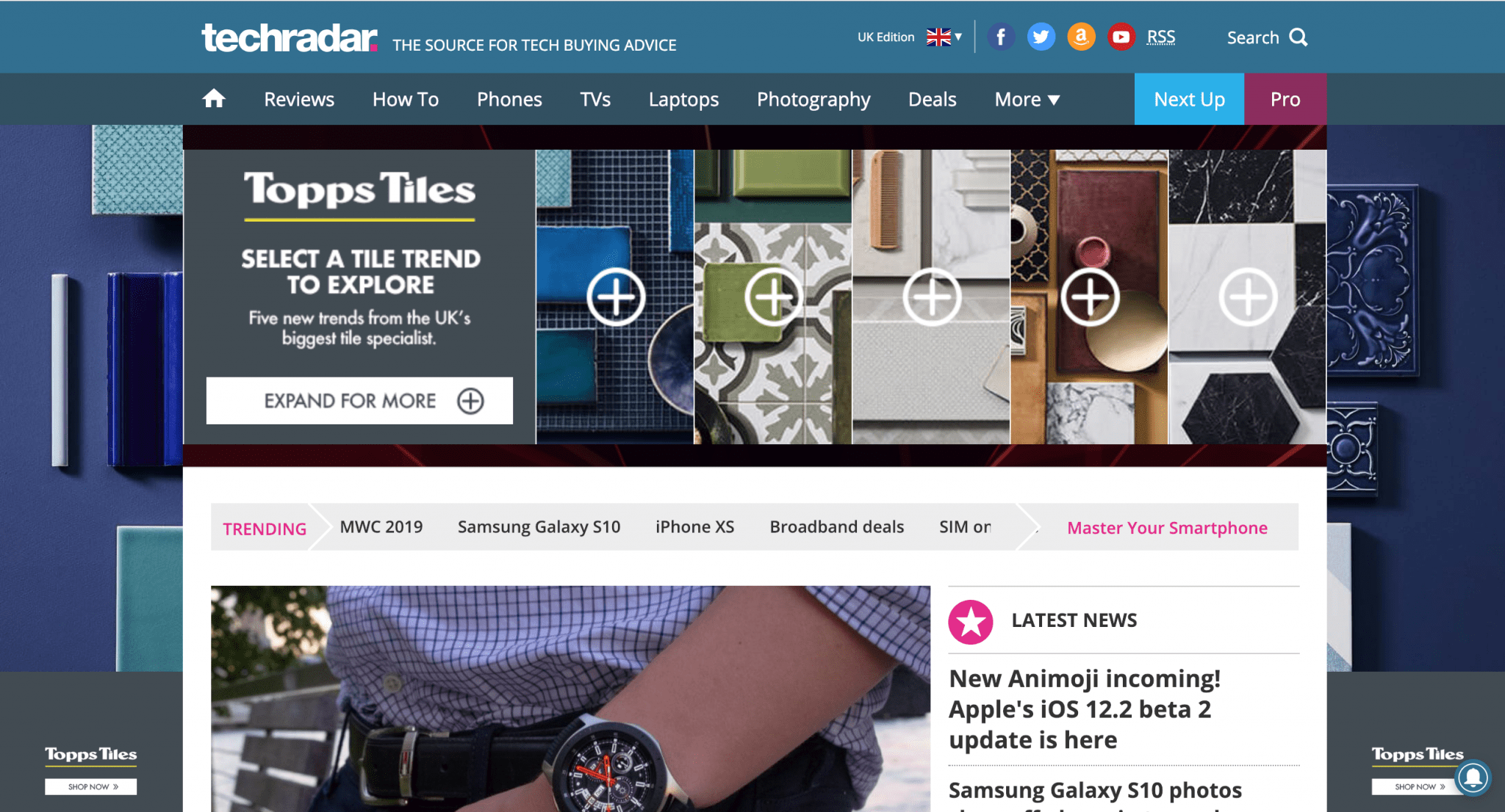 Above the Fold, Welcome, Website Design, Themes, Toisc Limited, Example