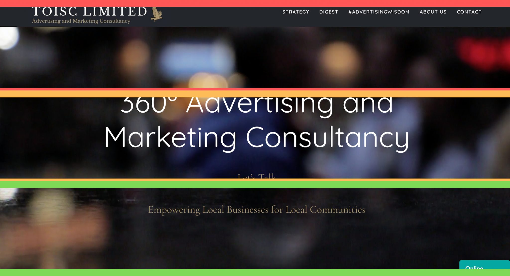 Above the Fold, Welcome, Website Design, Themes, Toisc Limited, Front Page Examined