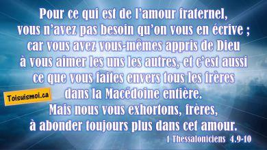 1 Thessaloniciens 4.9-10