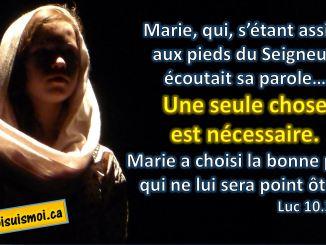 Luc 10.39, 42