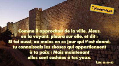 Luc 19.41-42