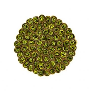 https toit du monde com bols chantants tibetains coussins 4831 petit tapis rond en laine beige jaune et vert acidule pour bol chantant petit coussin en laine ou tout autre objet html