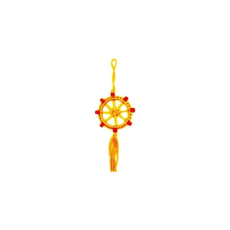 porte bonheur bouddhiste jaune
