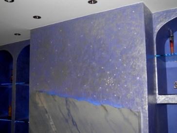 τεχνοτροπία μπλε με swarovski σε τζάκι