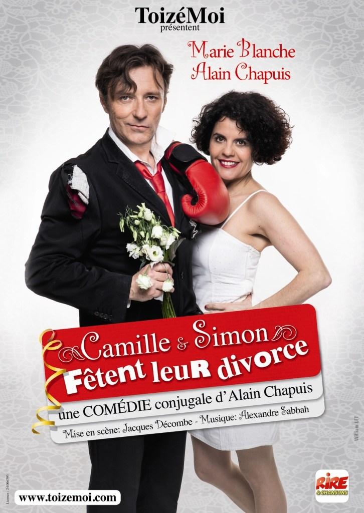 """""""Camille et Simon fêtent leur divorce"""" à Aix-en-Provence du Mer 9, Jeu 10, Ven 11 et Sam 12 juin 2021. Théâtre la Fontaine d'Argent. Réservations 04 42 38 43 80"""
