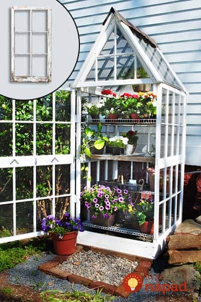 Mini Greenhouse Made Windows