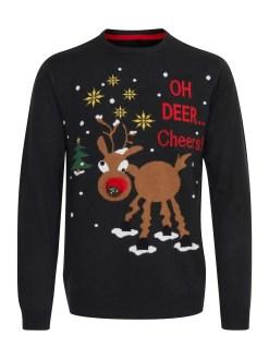 Blend Christmas Pullover Rudolph Music