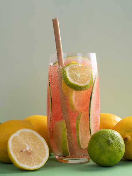 Bamboe rietje meloen Cocktail