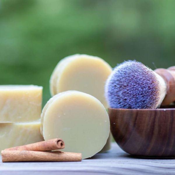sfeer rugged spice natural shaving soap scheerzeep natuurlijk plasticvrij