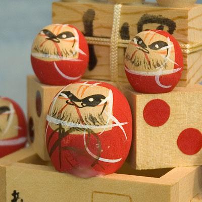 Kokeshi Japanese Wooden Doll 7 Trial Daruma Figurine Japan TokaidoSoftypapa