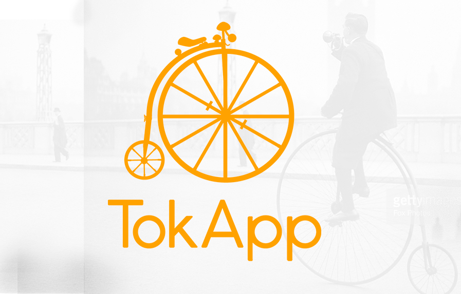 La bici de TokApp, algo más que un logo