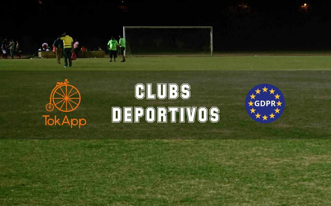 Protección de datos del GDPR para clubs deportivos